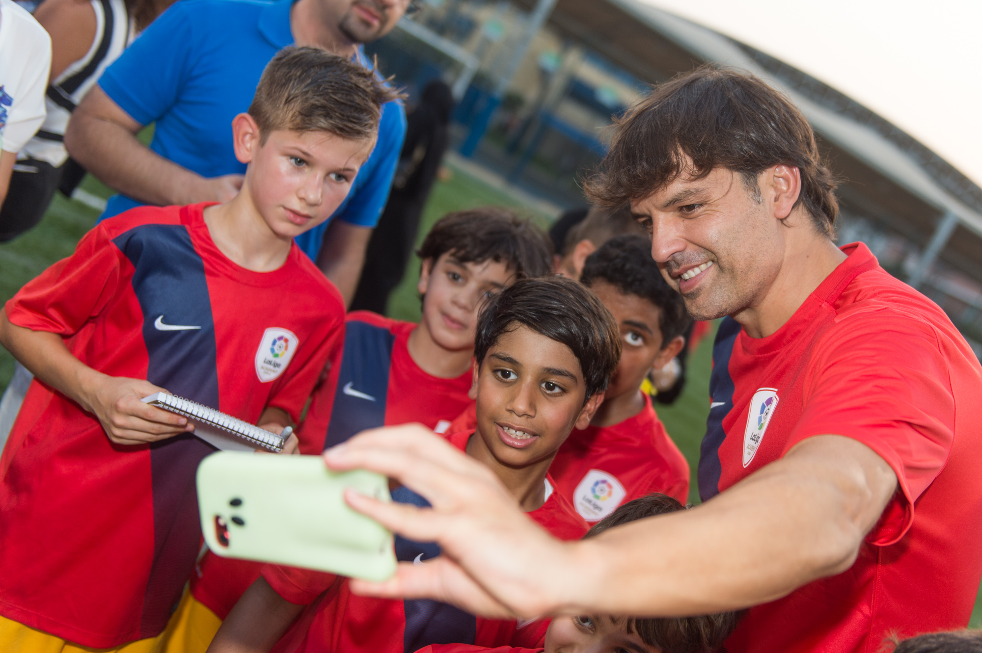 Real Madrid Legend Fernando Morientes Surprise Visit to LaLiga Academy in Abu Dhabi